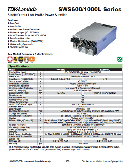 AC-DC sample product page