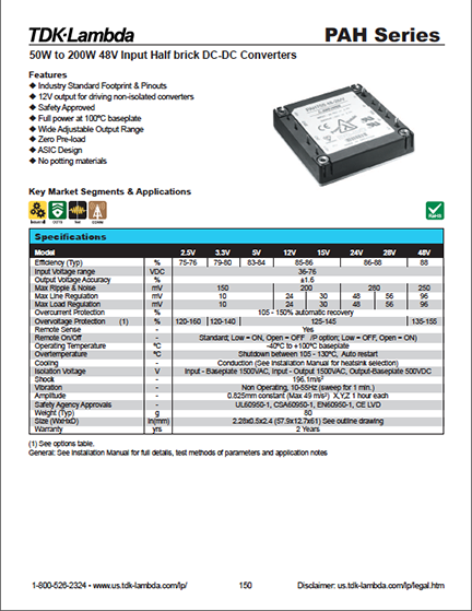 DC-DC sample product page